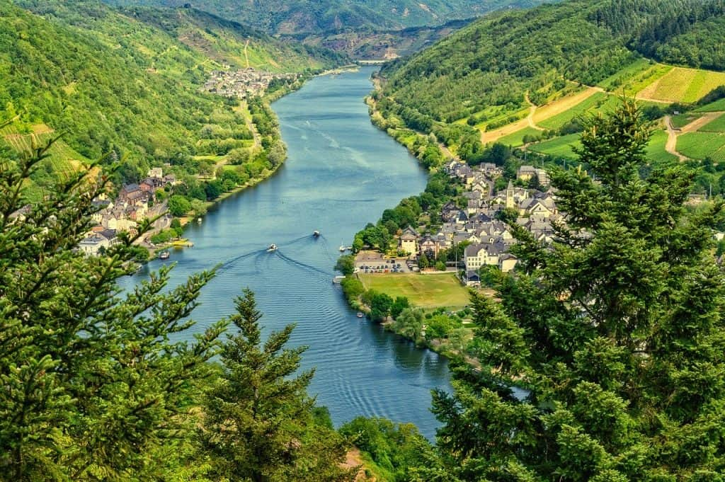 mosel, view, river